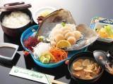 平貝のお刺身定食